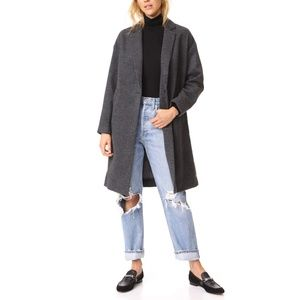 Madewell   Monsieur Coat Gray Wool Blend S